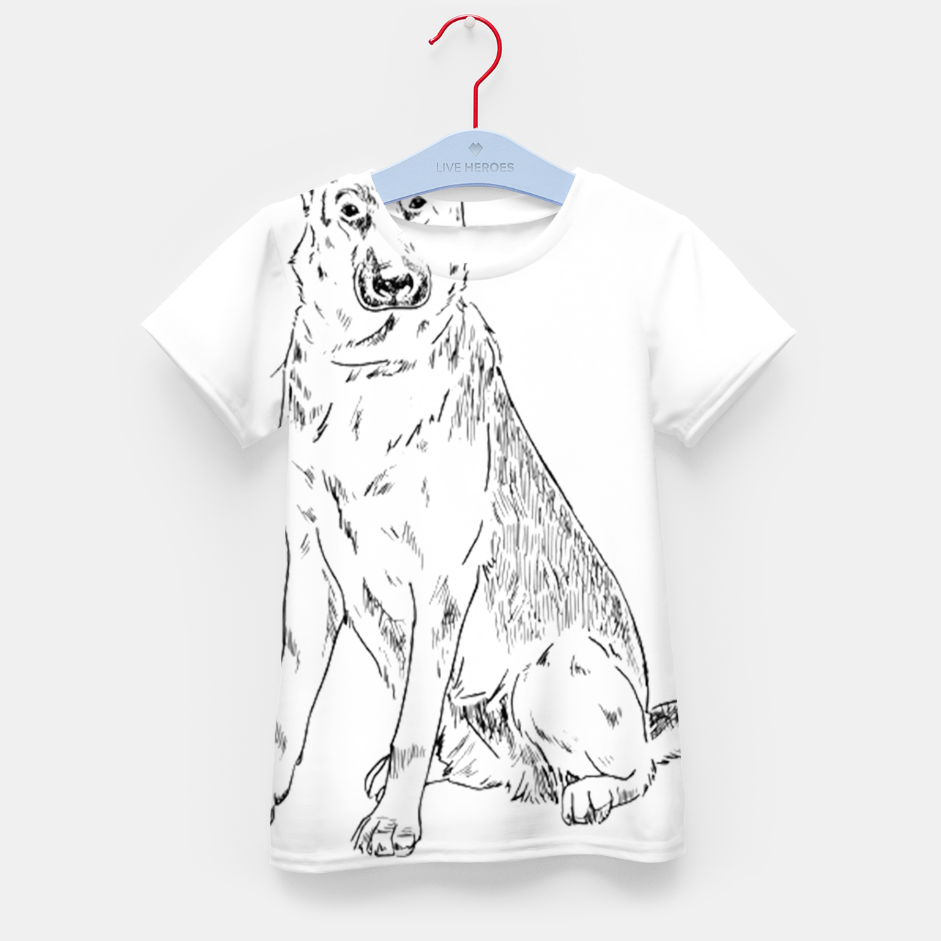 Image of  Hand Drawn Pet Dog Sketch Kid's t-shirt - Live Heroes