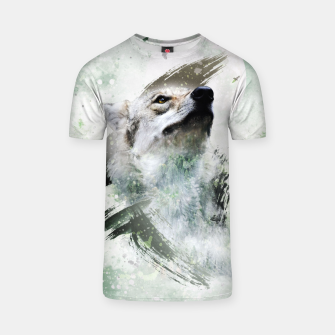 Thumbnail image of Nature Wolf T-Shirt, Live Heroes
