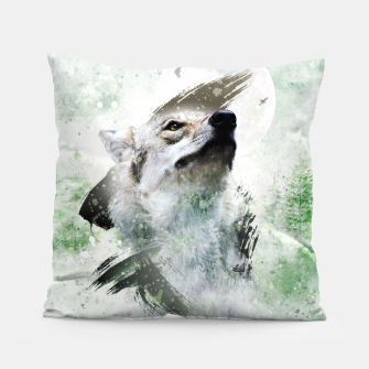 Thumbnail image of Nature Wolf Kissen, Live Heroes