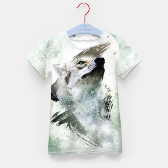 Thumbnail image of Nature Wolf T-Shirt für kinder, Live Heroes