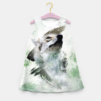 Thumbnail image of Nature Wolf Mädchen-Sommerkleid, Live Heroes