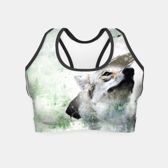 Thumbnail image of Nature Wolf Crop Top, Live Heroes