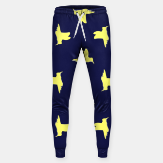 Thumbnail image of Yellow birds on blue Sweatpants, Live Heroes