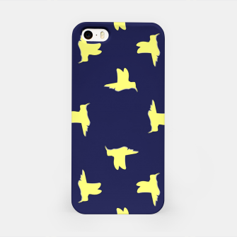 Thumbnail image of Yellow birds on blue iPhone Case, Live Heroes