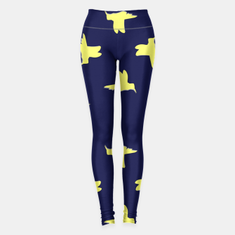 Thumbnail image of Yellow birds on blue Leggings, Live Heroes