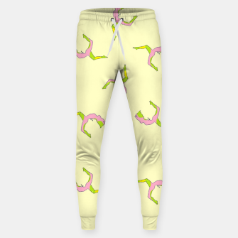 Thumbnail image of Silhouette yoga pattern Sweatpants, Live Heroes