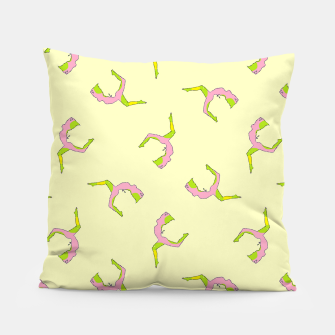 Thumbnail image of Silhouette yoga pattern Pillow, Live Heroes
