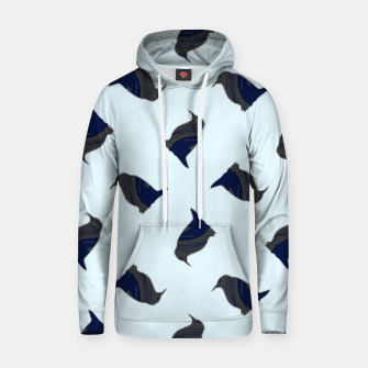Thumbnail image of Penguin silhouette on blue Hoodie, Live Heroes