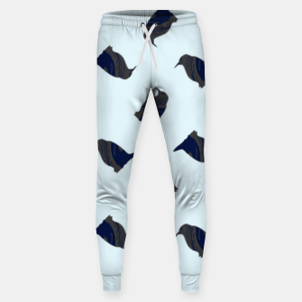 Thumbnail image of Penguin silhouette on blue Sweatpants, Live Heroes