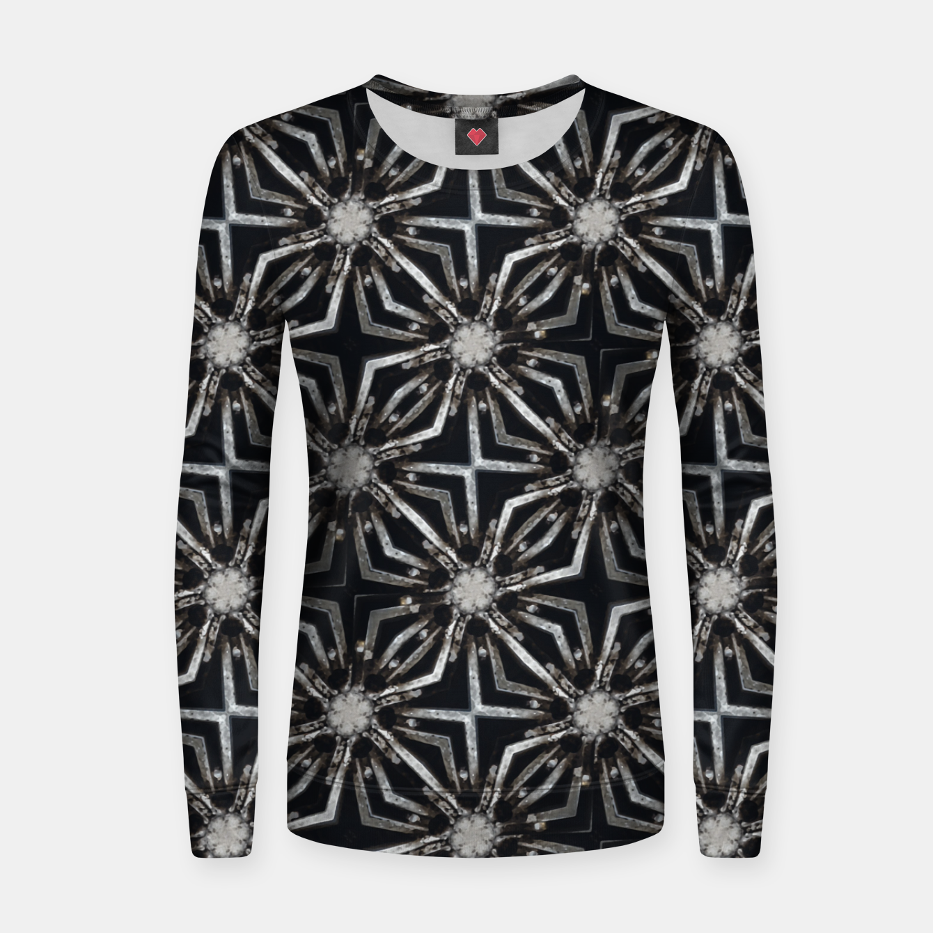 Image of Futuristic Industrial Print Pattern Women sweater - Live Heroes