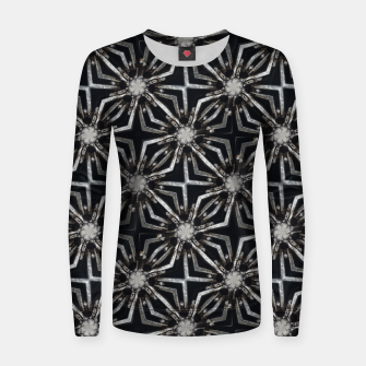 Thumbnail image of Futuristic Industrial Print Pattern Women sweater, Live Heroes