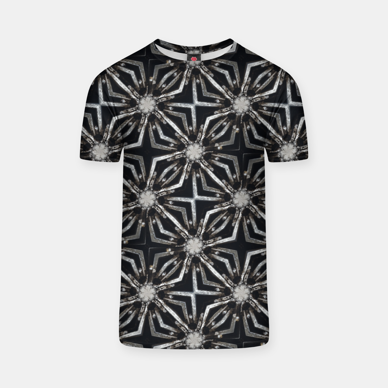 Image of Futuristic Industrial Print Pattern T-shirt - Live Heroes