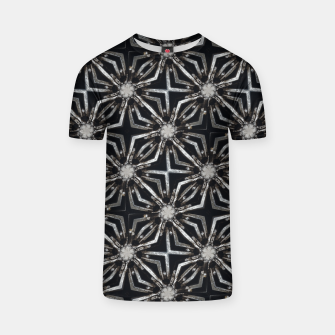 Thumbnail image of Futuristic Industrial Print Pattern T-shirt, Live Heroes