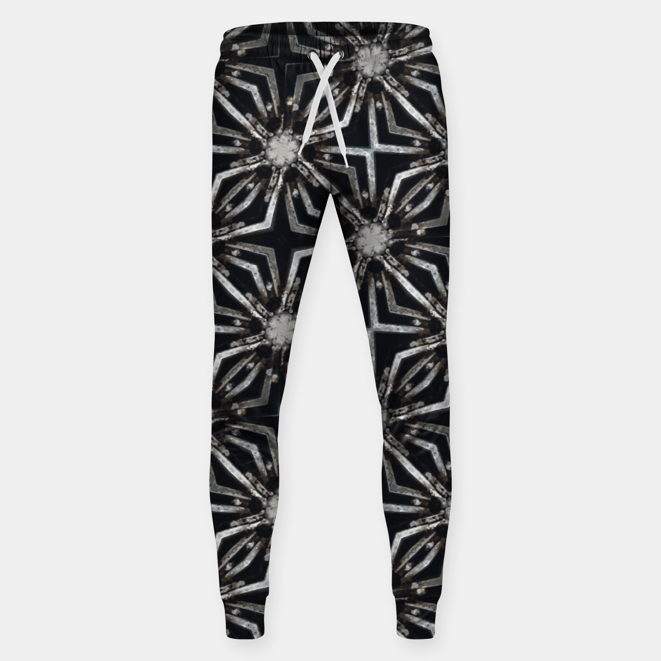 Image of Futuristic Industrial Print Pattern Sweatpants - Live Heroes