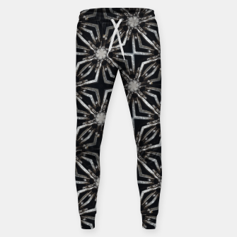 Thumbnail image of Futuristic Industrial Print Pattern Sweatpants, Live Heroes