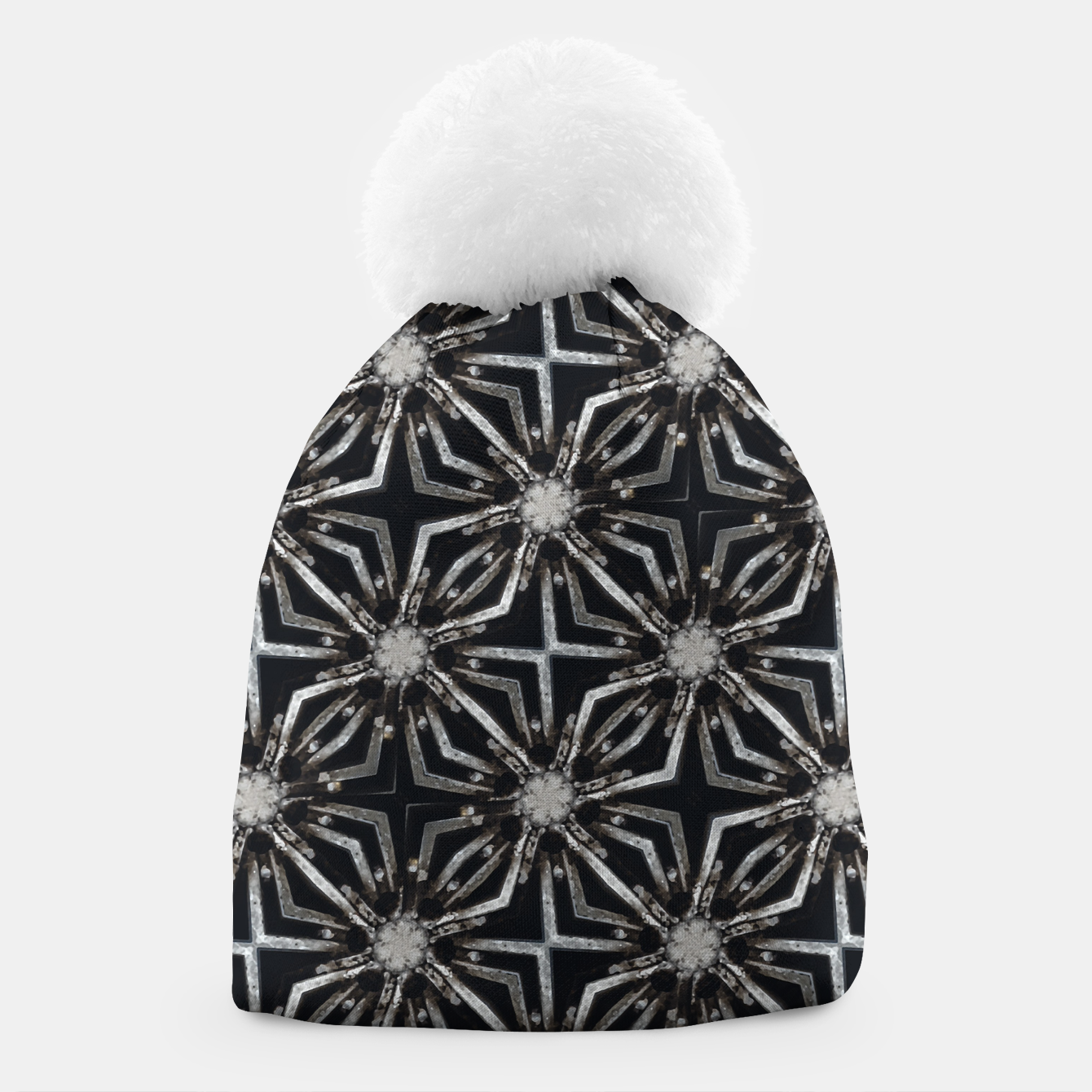Image of Futuristic Industrial Print Pattern Beanie - Live Heroes