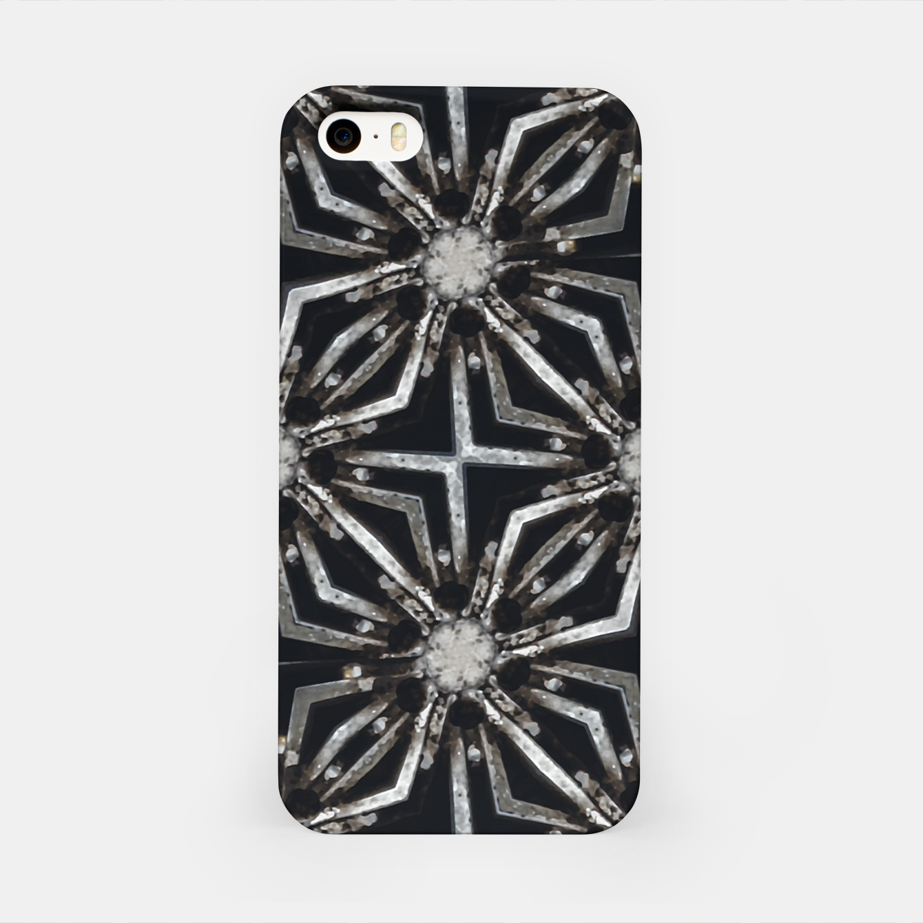 Image of Futuristic Industrial Print Pattern iPhone Case - Live Heroes