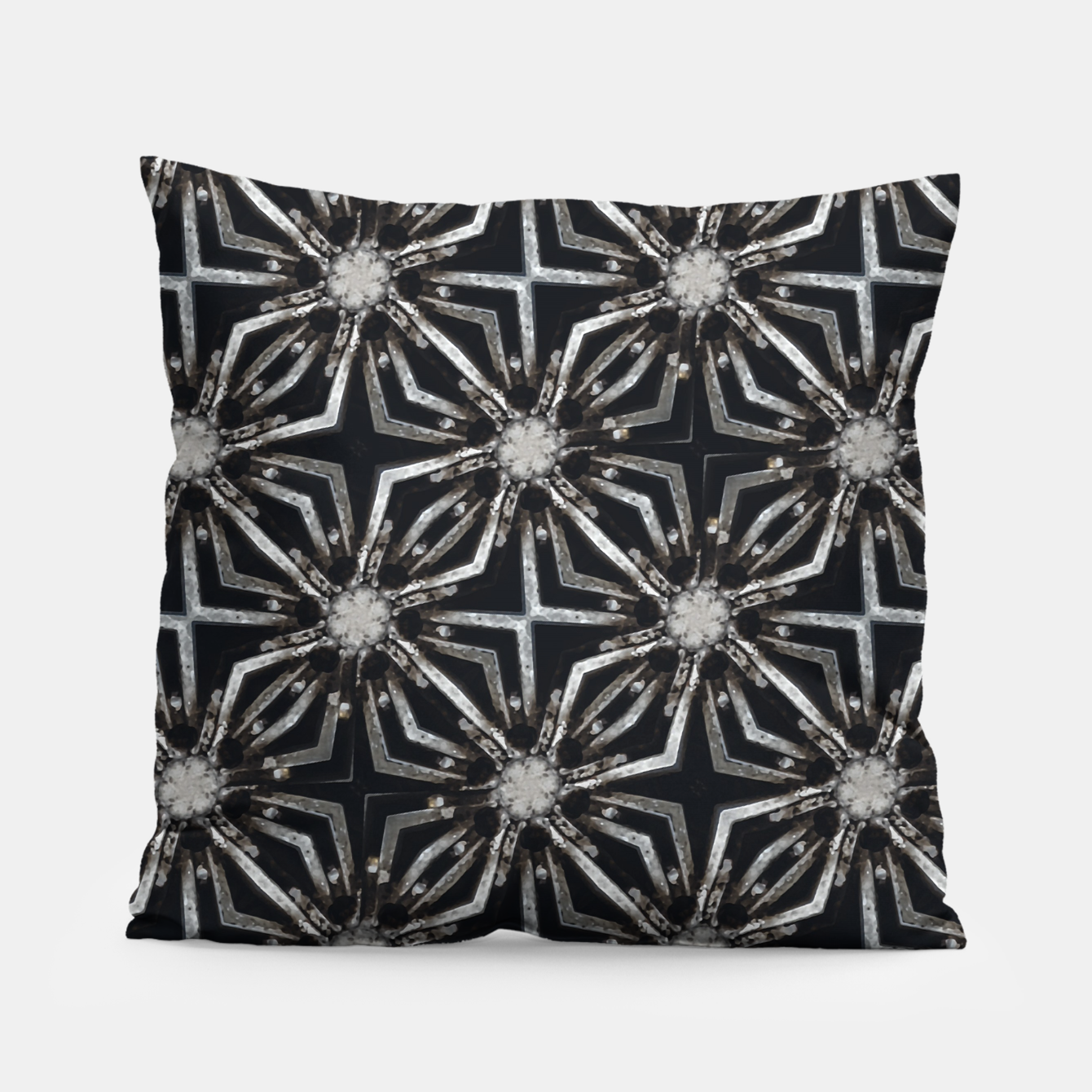 Image of Futuristic Industrial Print Pattern Pillow - Live Heroes