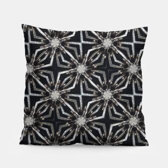 Thumbnail image of Futuristic Industrial Print Pattern Pillow, Live Heroes