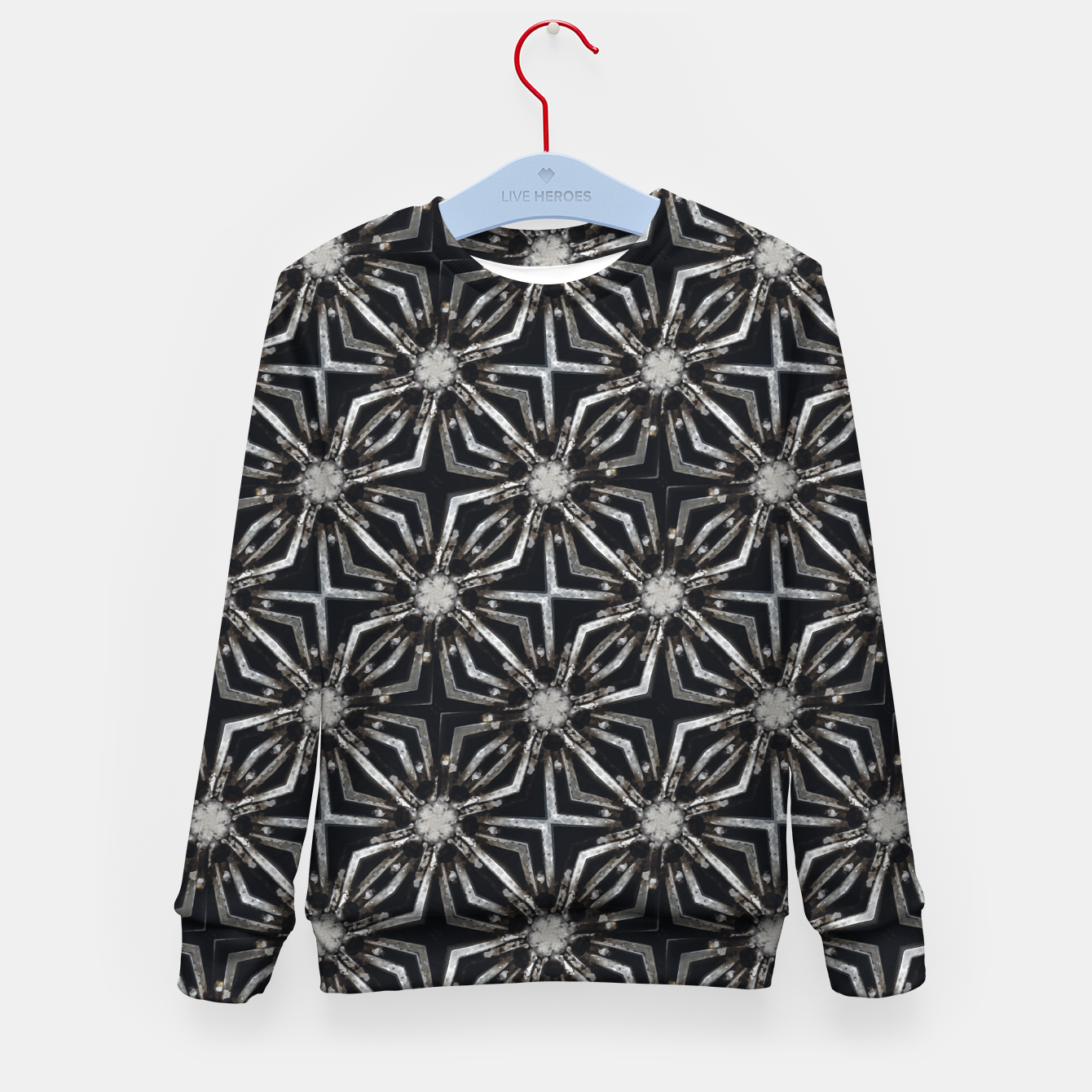Image of Futuristic Industrial Print Pattern Kid's sweater - Live Heroes