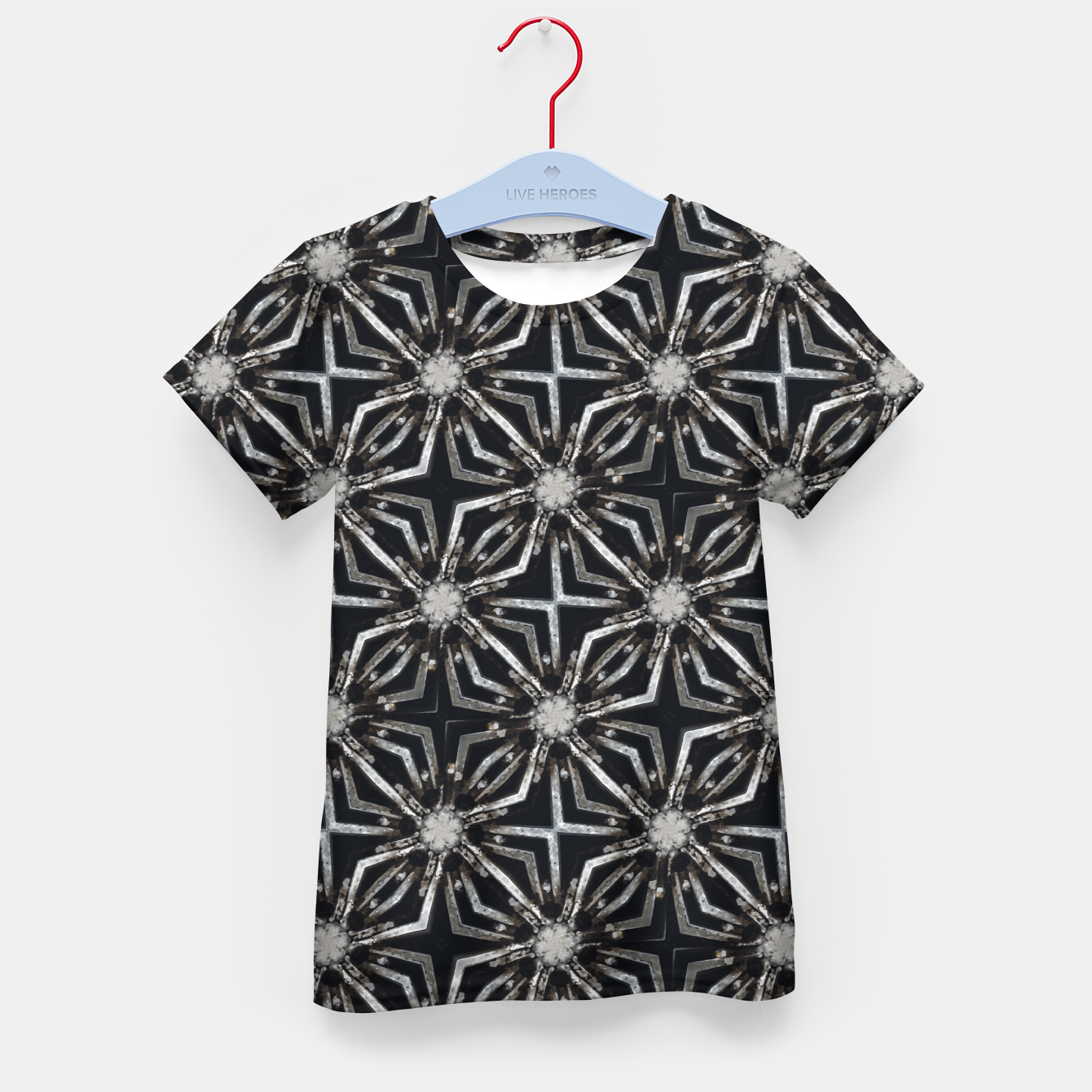 Image of Futuristic Industrial Print Pattern Kid's t-shirt - Live Heroes