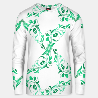 Green leaves abstract pattern Unisex sweater thumbnail image