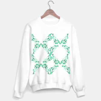 Green leaves abstract pattern Sweater regular thumbnail image