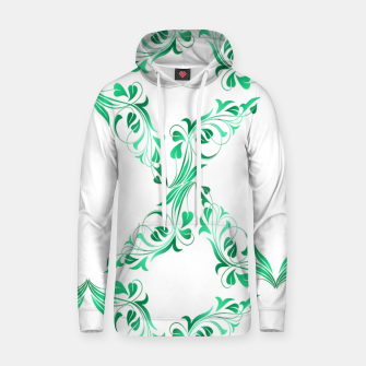 Green leaves abstract pattern Hoodie thumbnail image