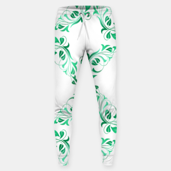 Green leaves abstract pattern Sweatpants thumbnail image