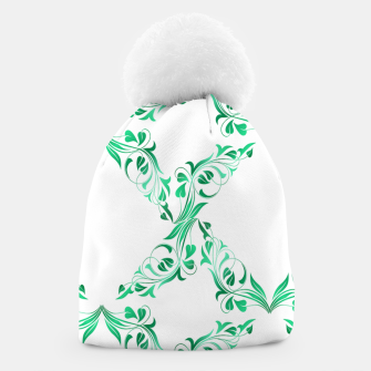 Green leaves abstract pattern Beanie thumbnail image