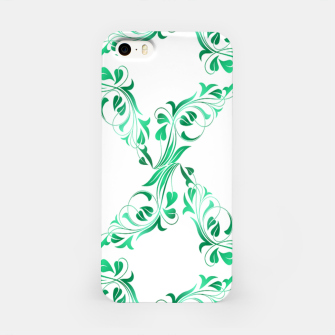 Green leaves abstract pattern iPhone Case thumbnail image