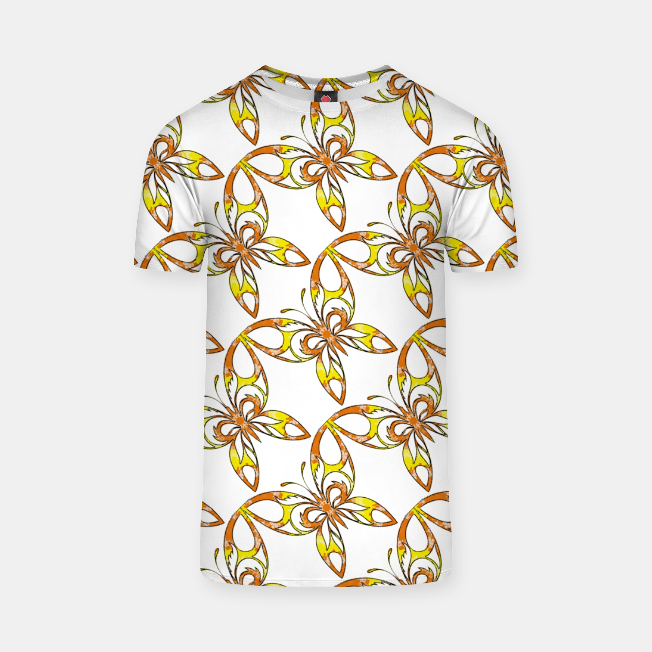 Image of Many butterflies pattern T-shirt - Live Heroes