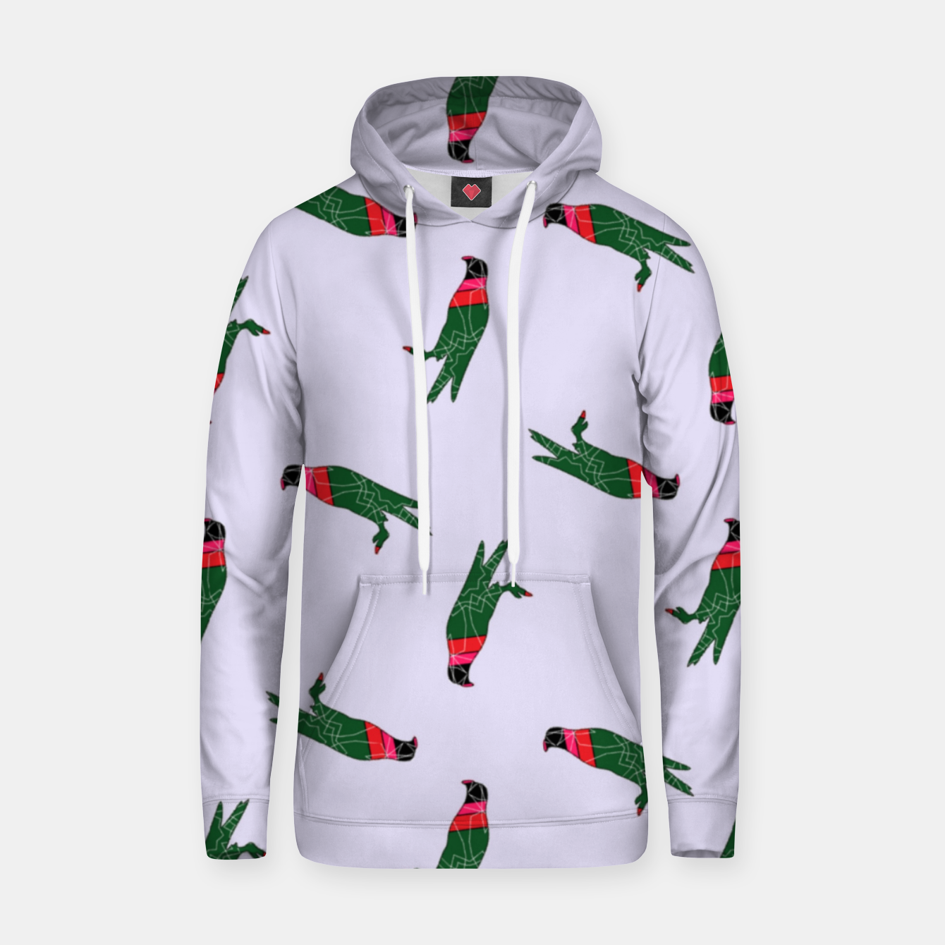 Image of Colorful eagle on gray Hoodie - Live Heroes