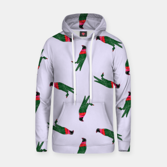 Thumbnail image of Colorful eagle on gray Hoodie, Live Heroes