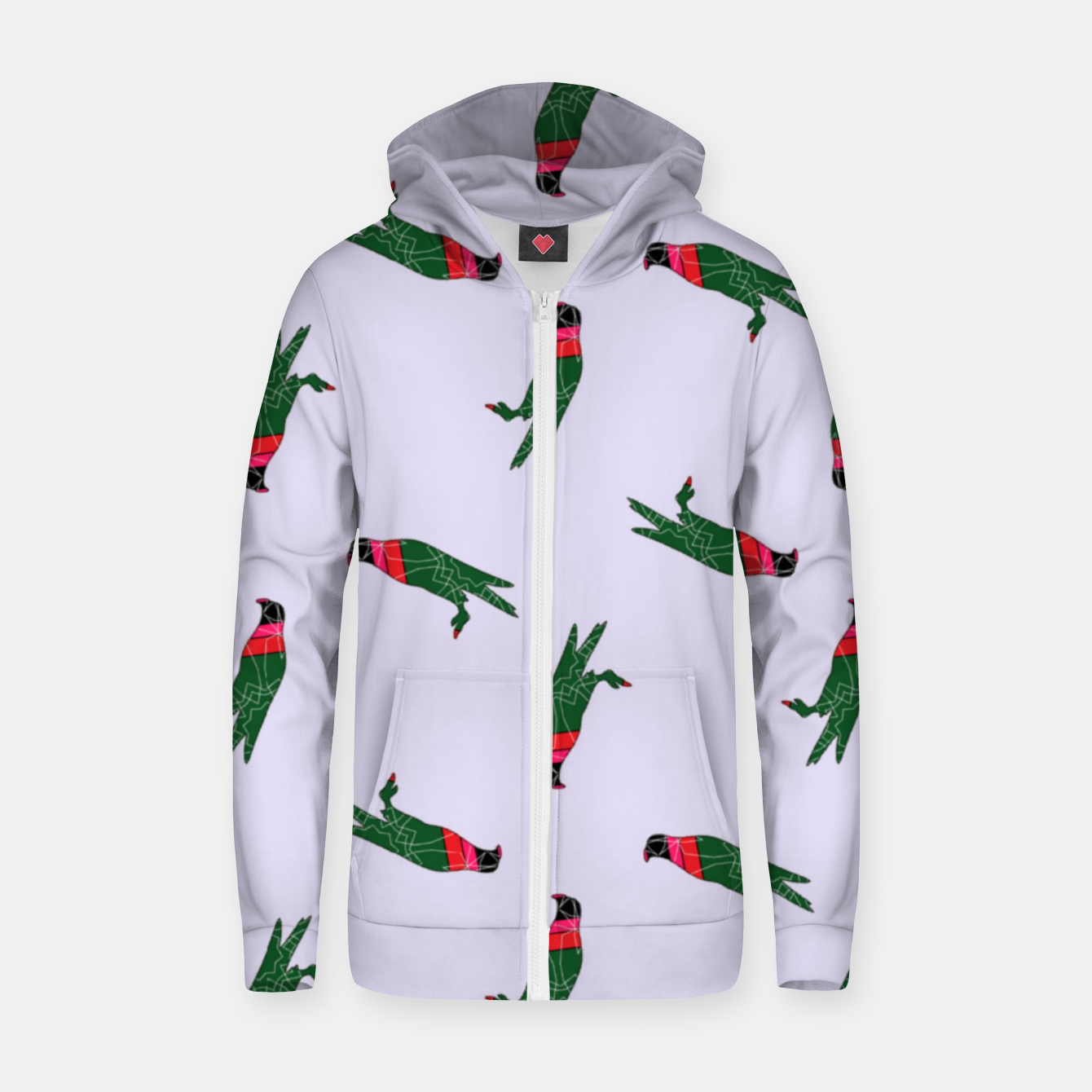 Image of Colorful eagle on gray Zip up hoodie - Live Heroes