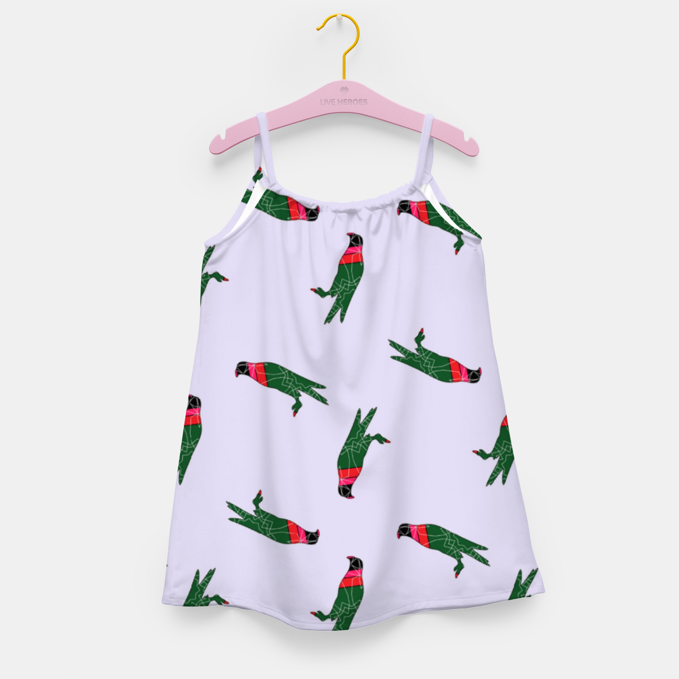 Image of Colorful eagle on gray Girl's dress - Live Heroes