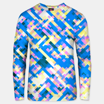 Thumbnail image of Sapphire labyrinth, small colored tiles arranged in mosaic Unisex sweater, Live Heroes