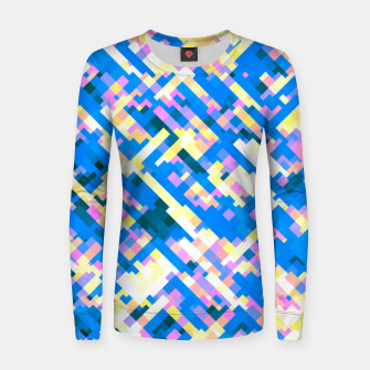 Thumbnail image of Sapphire labyrinth, small colored tiles arranged in mosaic Women sweater, Live Heroes