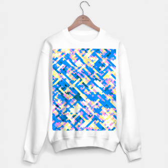 Thumbnail image of Sapphire labyrinth, small colored tiles arranged in mosaic Sweater regular, Live Heroes