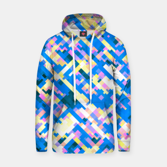 Thumbnail image of Sapphire labyrinth, small colored tiles arranged in mosaic Hoodie, Live Heroes