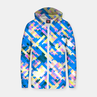 Thumbnail image of Sapphire labyrinth, small colored tiles arranged in mosaic Zip up hoodie, Live Heroes