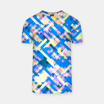 Thumbnail image of Sapphire labyrinth, small colored tiles arranged in mosaic T-shirt, Live Heroes