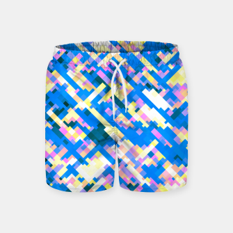 Thumbnail image of Sapphire labyrinth, small colored tiles arranged in mosaic Swim Shorts, Live Heroes