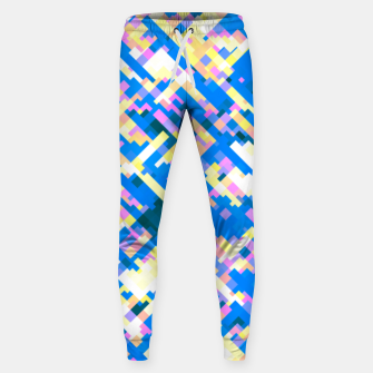 Thumbnail image of Sapphire labyrinth, small colored tiles arranged in mosaic Sweatpants, Live Heroes
