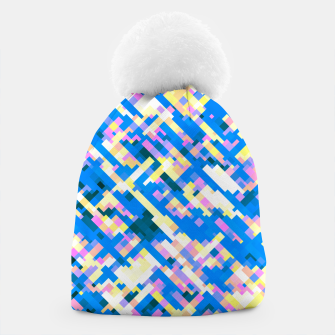 Thumbnail image of Sapphire labyrinth, small colored tiles arranged in mosaic Beanie, Live Heroes