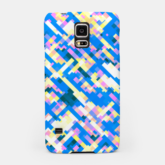 Thumbnail image of Sapphire labyrinth, small colored tiles arranged in mosaic Samsung Case, Live Heroes