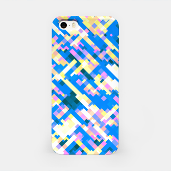 Thumbnail image of Sapphire labyrinth, small colored tiles arranged in mosaic iPhone Case, Live Heroes