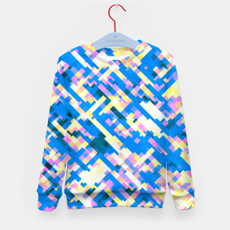 Thumbnail image of Sapphire labyrinth, small colored tiles arranged in mosaic Kid's sweater, Live Heroes