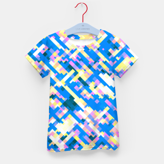 Thumbnail image of Sapphire labyrinth, small colored tiles arranged in mosaic Kid's t-shirt, Live Heroes
