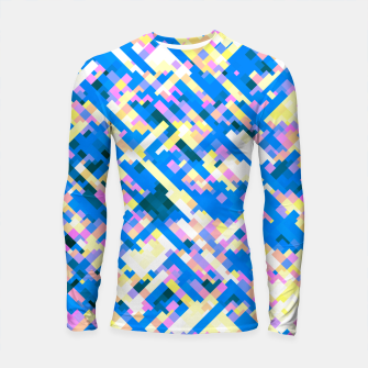 Thumbnail image of Sapphire labyrinth, small colored tiles arranged in mosaic Longsleeve rashguard , Live Heroes